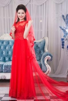 Áo dài cưới Hoàng Gia đỏ
