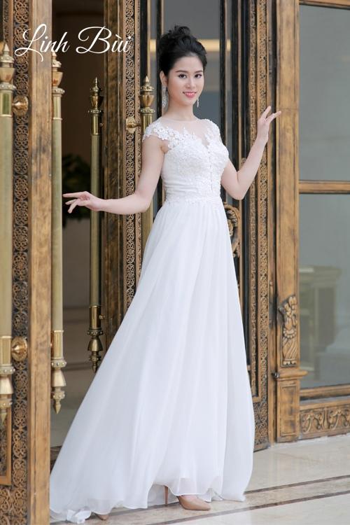 Váy cưới dáng suông cho cô dâu vẻ đẹp dịu dàng, tinh khôi