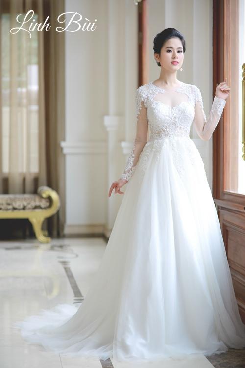 Dáng váy xòe đẹp cho cô dâu sự bồng bềnh duyên dáng
