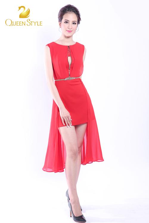 Đầm dạ hội có tà dài duyên dáng, điệu đà