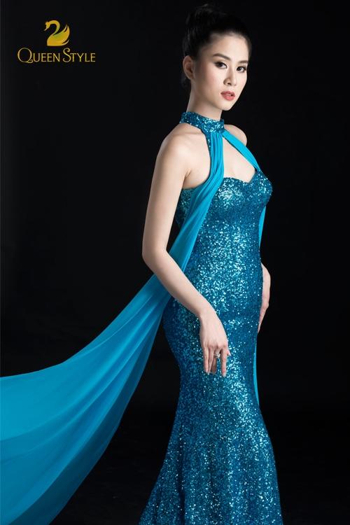 Đầm dạ hội cổ yếm cúp ngực gợi cảm, quyến rũ vô cùng
