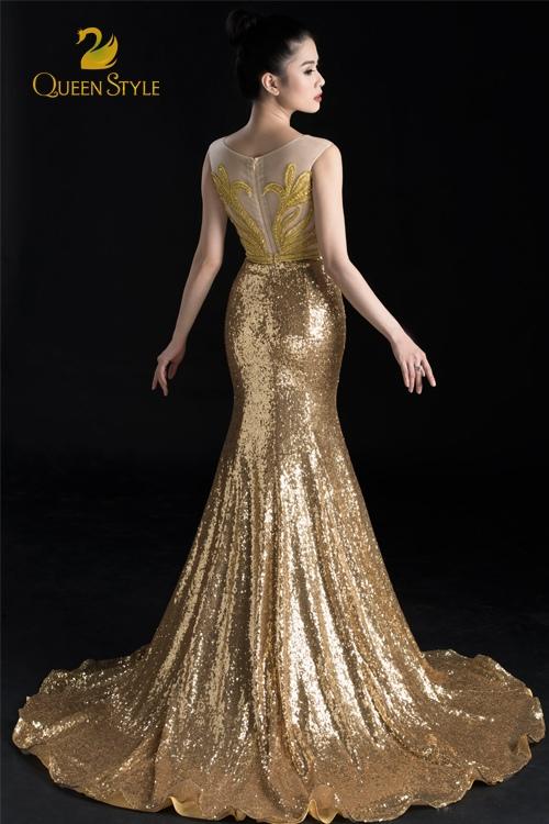 Đầm dạ hội đuôi cá dáng dài lộng lẫy tôn vinh hình thể gợi cảm