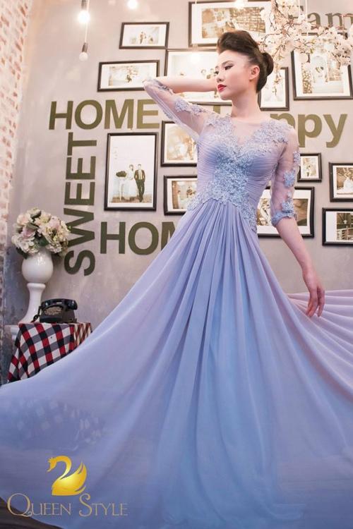 Đầm dạ hội dáng suông xòe bay bổng tạo sự duyên dáng vô cùng