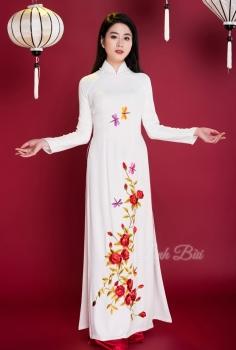 Áo dài truyền thống họa tiết hoa Hồng, Chuồn Chuồn