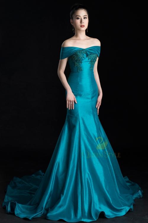Đầm dạ hội cao cấp với thiết kế đơn giản cho nhiều sự kiện