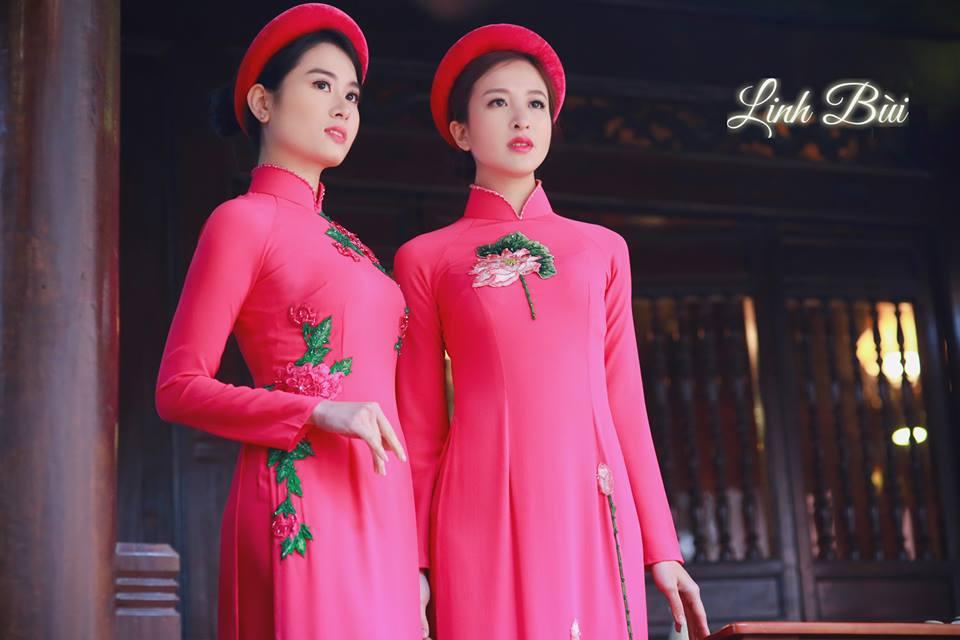 Họa tiết thêu tay thổi hồn áo dài Việt